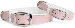 Leather Dog Collar - Peony Pink - Size XS
