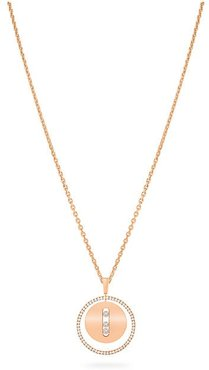 Lucky Move MM 18K Rose Gold & Diamond Pendant Necklace - Rose Gold