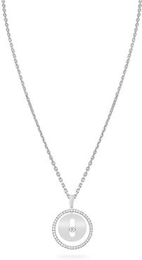 Lucky Move PM 18K White Gold & Diamond Pendant Necklace - White Gold