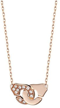 Menottes R8 18K Yellow Gold & Diamond Handcuff Pendant Necklace - Rose Gold