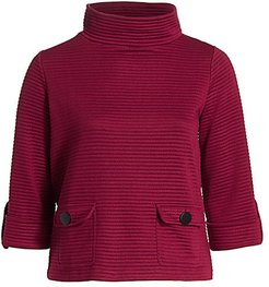 Ottoman Classic-Fit Two-Pocket Top - Burgundy - Size 3X (22-24)