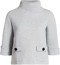 Ottoman Classic-Fit Two-Pocket Top - Grey Heather - Size 3X (22-24)