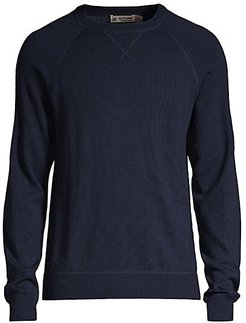 Slim-Fit Merino Wool Ribbed Pullover - Twilight - Size Large