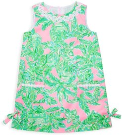 Little Girl's & Girl's Palm Leaf-Print Shift Dress - Pink Sand Paradise - Size 10