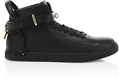 Alce Leather High-Top Sneakers - Black - Size 40 (7)