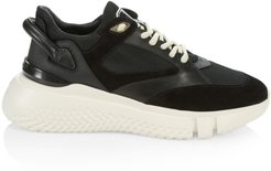 Veloce Tonal Leather Sneakers - Black - Size 13