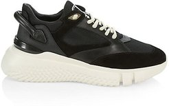 Veloce Tonal Leather Sneakers - Black - Size 41 (8)