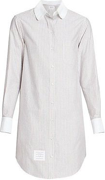 Unconstructed Striped Shirt Dress - Red White Blue - Size 38 (2)