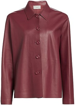 Frim Leather Jacket - Currant - Size Small