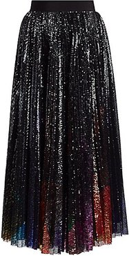 Sequin Pleated Midi Skirt - Size 44 (10)