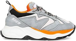 Attack Mixed-Media Suede & Leather Sneakers - Grey - Size 45 (12)