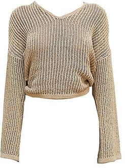Catherine Knit Cover-Up - Sand - Size Medium