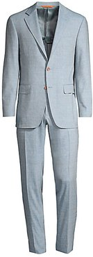 Pave Linen-Blend Suit - Light Blue - Size 50 (40) S