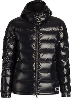 Hooded Down Puffer Jacket - Nero - Size 50 (40)
