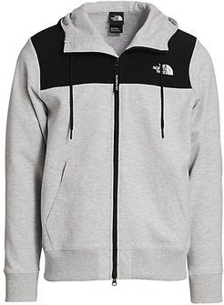 Graphic Collection Zip Hoodie - Tnf Light Grey Heather - Size Small