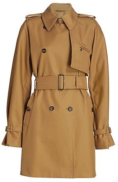 Attuale Trench Coat - Tobacco - Size 10