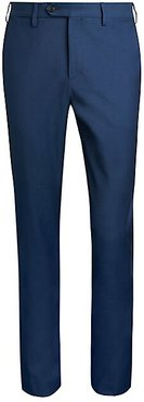 COLLECTION Modern-Fit Contrast Twill Chino Pants - Blue - Size 31