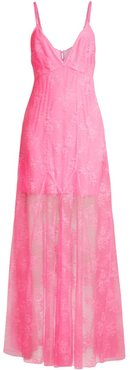 Lace Gown - Hot Pink - Size Medium