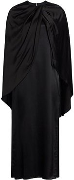 Twist Cape Dress - Black - Size 10