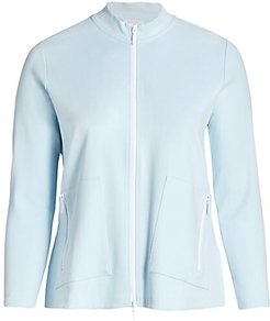 Relaxed Zip Jacket - Sky Blue - Size 1X (14-16)