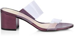 Victorie Vinyl & Leather Mules - Victorie - Size 7