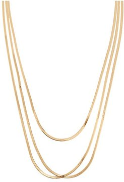 Liquid 14K Gold 3-Strand Layering Necklace - Gold