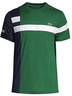 Two-Tone Striped T-Shirt - Vert Marine - Size 3 (Small)