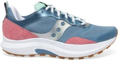 Abstract Jazz Mix Media Chunky Sneakers - Blue Rose - Size 11.5