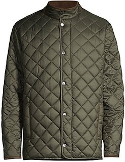 Suffolk Quilted Travel Jacket - Olive - Size XXL