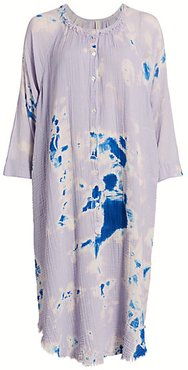 Poet Tie-Dye Shift Dress - Violet Tie Dye - Size 0 (XS)