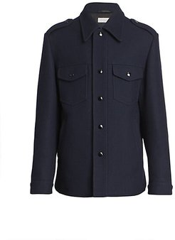 Vale Military Wool-Blend Jacket - Navy - Size 52 (42)