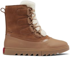 Joan of Arctic Next Lite Shearling-Trimmed Leather Boots - Velvet Tan - Size 7
