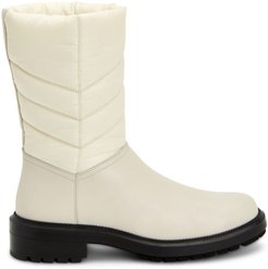 Lori Quilted Leather & Nylon Boots - White - Size 8.5