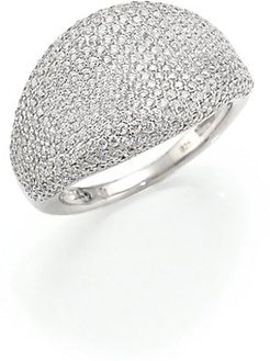 Pavé Dome Ring - Silver - Size 7