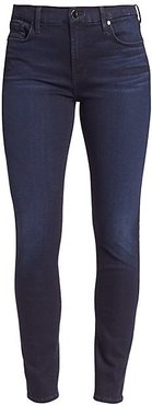 Riche Touch Mid-Rise Skinny Jeans - Blue Black - Size 0