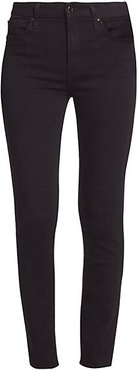 Riche Touch Mid-Rise Skinny Jeans - Black - Size 10