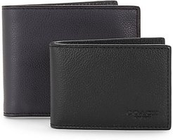 Sport Leather Three-In-One Wallet Set - Mid Black