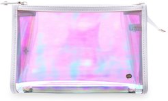 Miami Medium Zip Cosmetic Case - White
