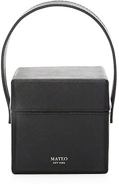 The Catherine Leather Box Bag - Black