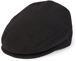 COLLECTION Classic Wool Ivy Cap - Black - Size Medium