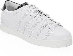 Leather Low-Top Sneakers - White Calf - Size 12