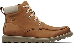 Madson Moc Toe Waterproof Ankle Boots - Camel Brown - Size 10