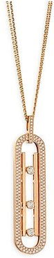 Move 10th Anniversary Diamond & 18K Rose Gold Pendant Necklace - Rose Gold