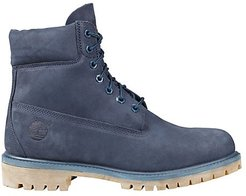 Premium Waterproof Leather Work Boots - Blue - Size 8 M