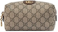 Ophidia GG Cosmetic Case - Brown