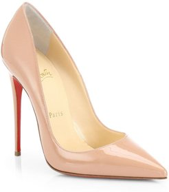 So Kate 120 Patent Leather Pumps - Nude - Size 10.5