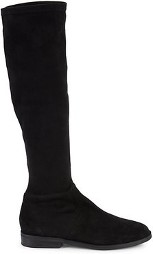 Emma Stretch Suede Knee Boots