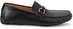 Basket Weave Leather Loafers