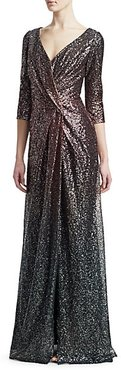 Glittering Ombré Evening Gown