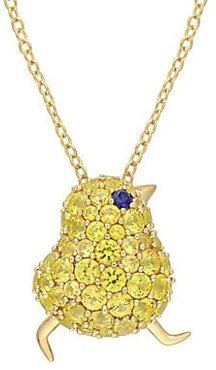 18K Goldplated Sterling Silver Pendant Necklace